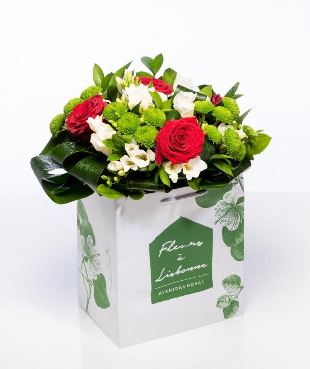 Fleurs à Lisbonne - Ramo de Rosas Premium 1