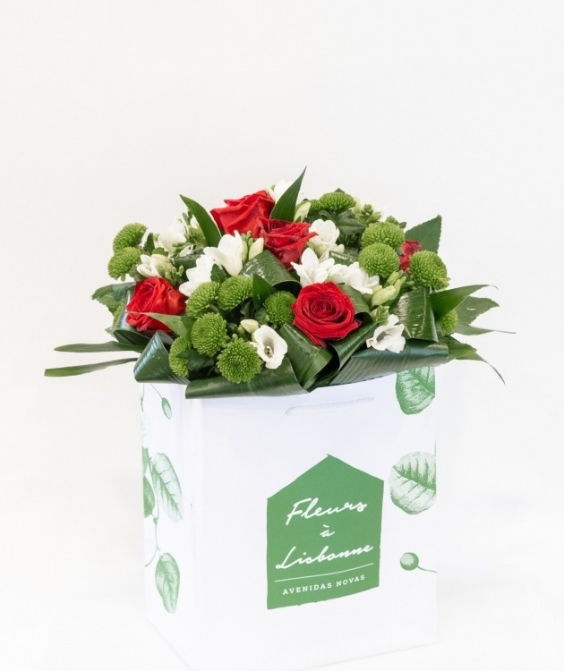 Fleurs à Lisbonne - Ramo de Rosas Vermelhas 1