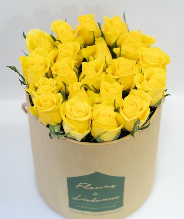 Fleurs à Lisbonne - Caixa Alta de Rosas Amarelas 4
