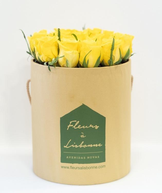 Fleurs à Lisbonne - Caixa Alta de Rosas Amarelas 2