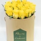 Fleurs à Lisbonne - Caixa Alta de Rosas Amarelas 3 Thumb