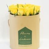 Fleurs à Lisbonne - Caixa Alta de Rosas Amarelas 2 Thumb