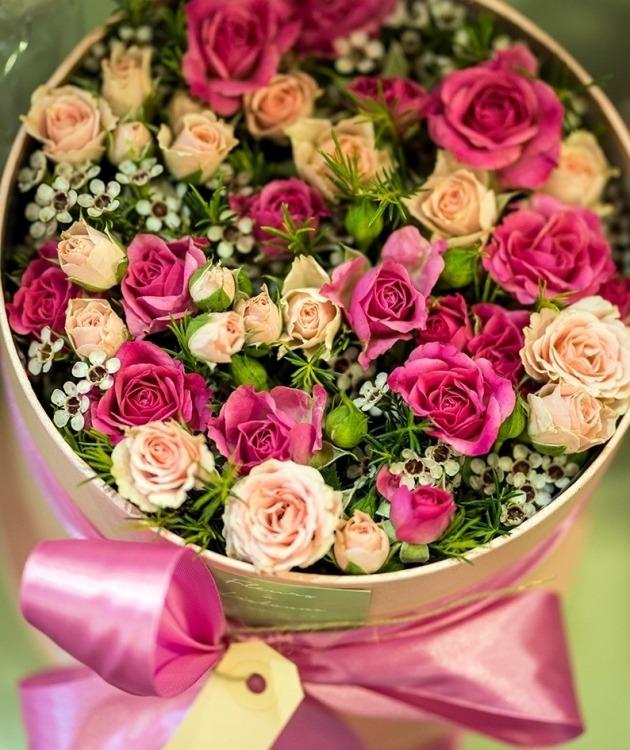 Fleurs à Lisbonne - Caixa de Rosas Premium 1
