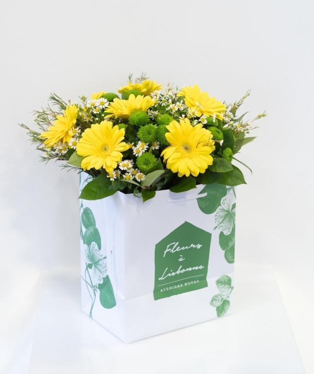 Fleurs à Lisbonne - Ramo de Gerberas Amarelas 1