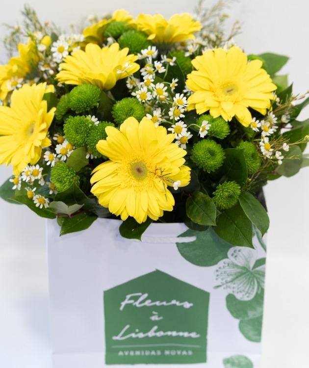 Fleurs à Lisbonne - Ramo de Gerberas Amarelas 6
