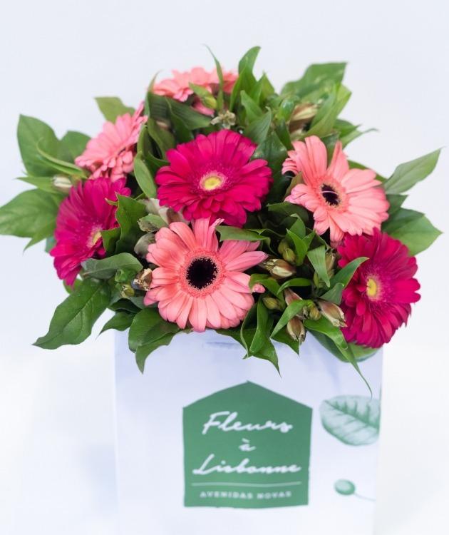 Fleurs à Lisbonne - Ramo de Gerberas Cor de Rosa 3