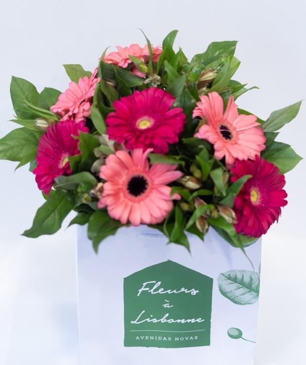 Fleurs à Lisbonne - Ramo de Gerberas Cor de Rosa 4