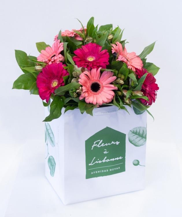 Fleurs à Lisbonne - Ramo de Gerberas Cor de Rosa 1