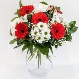 Fleurs à Lisbonne - Ramo de Gerberas Vermelhas e Margaridas Brancas 2 Thumb