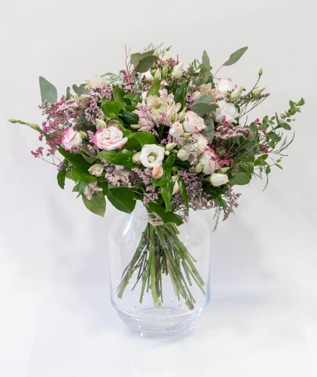 Fleurs à Lisbonne - Ramo de Lisianthus cor de Rosa e Brancos 2