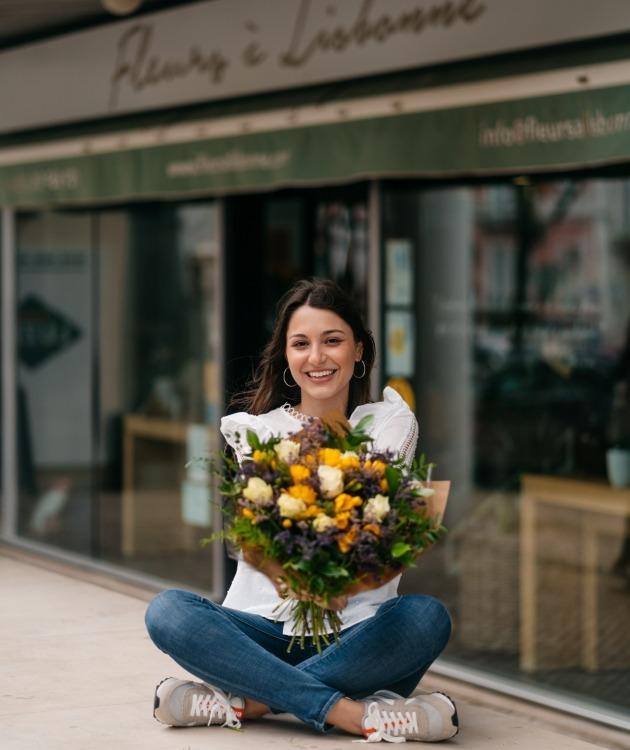 Fleurs à Lisbonne - Ramo Campestre de Frésias Amarelas 6