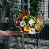 Fleurs à Lisbonne - Ramo de Gerberas Amarelas e Brancas 6 Thumb