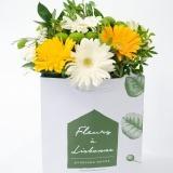 Fleurs à Lisbonne - Ramo de Gerberas Amarelas e Brancas 3 Thumb