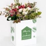 Fleurs à Lisbonne - Ramo de Orquídeas Cor de Rosa e Rosas Brancas 1 Thumb