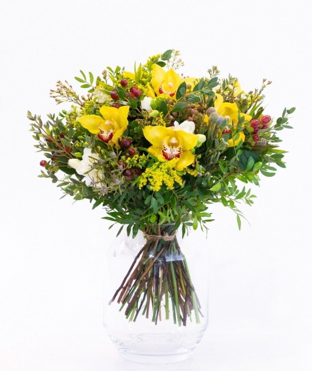 Fleurs à Lisbonne - Ramo de Orquídeas Amarelas 2