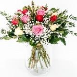Fleurs à Lisbonne - Ramo Mix de Rosas Cor de Rosa 2 Thumb