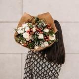 Fleurs à Lisbonne - Ramo de Rosas Brancas Campestre Premium 7 Thumb