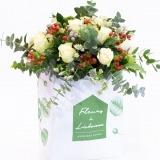 Fleurs à Lisbonne - Ramo de Rosas Brancas Campestre Premium 1 Thumb