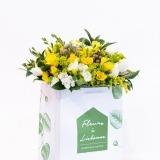 Fleurs à Lisbonne - Ramo de Frésias Amarelas e Brancas 1 Thumb