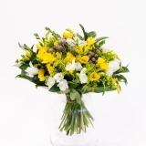 Fleurs à Lisbonne - Ramo de Frésias Amarelas e Brancas 2 Thumb