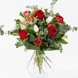 Fleurs à Lisbonne - Ramo de Rosas Vermelhas e Tulipas Brancas 2 Thumb