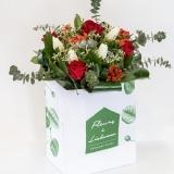 Fleurs à Lisbonne - Ramo de Rosas Vermelhas e Tulipas Brancas 1 Thumb
