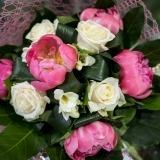 Fleurs à Lisbonne - Ramo de Rosas e Peónias Premium 3 Thumb