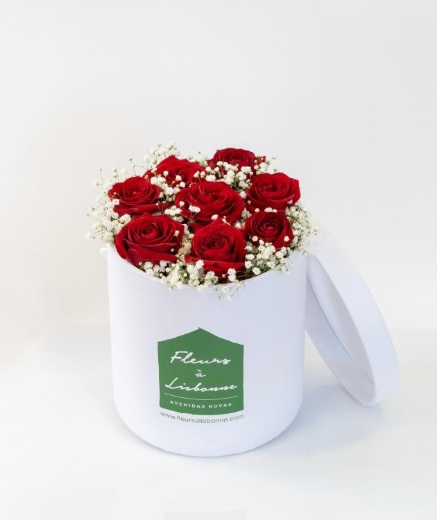 Fleurs à Lisbonne - Caixa Alta de Rosas Vermelhas 1