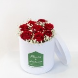 Fleurs à Lisbonne - Caixa Alta de Rosas Vermelhas 1 Thumb