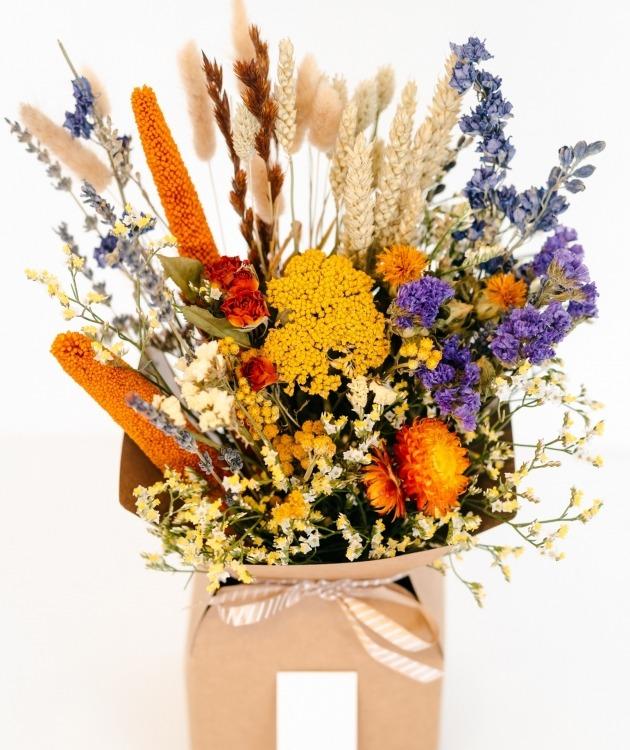Fleurs à Lisbonne - Caixa de Flores Secas Laranja 2