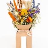 Fleurs à Lisbonne - Caixa de Flores Secas Laranja 1 Thumb