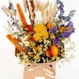 Fleurs à Lisbonne - Caixa de Flores Secas Laranja 2 Thumb
