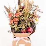 Fleurs à Lisbonne - Caixa de Flores Secas Cor de Rosa 2 Thumb