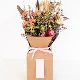 Fleurs à Lisbonne - Caixa de Flores Secas Cor de Rosa 1 Thumb