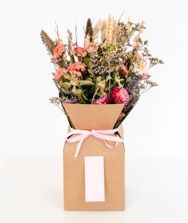 Fleurs à Lisbonne - Caixa de Flores Secas Cor de Rosa 1