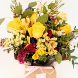 Fleurs à Lisbonne - Caixa de Rosas Amarelas Campestre 2 Thumb