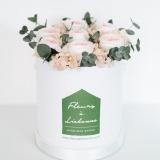 Fleurs à Lisbonne - Caixa de Rosas Preservadas Cor de Rosa 1 Thumb