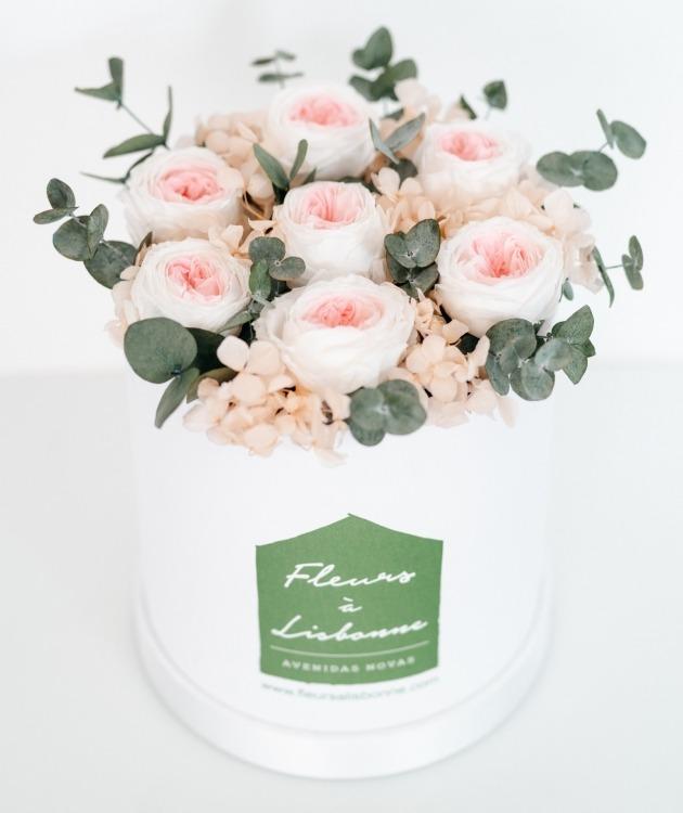 Fleurs à Lisbonne - Caixa de Rosas Preservadas Cor de Rosa 2