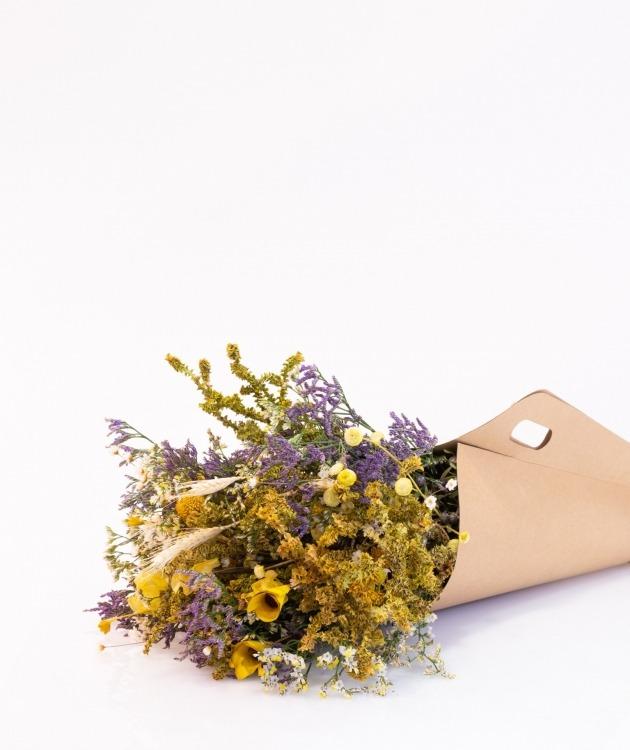 Fleurs à Lisbonne - Ramo de Flores Secas Amarelas 2