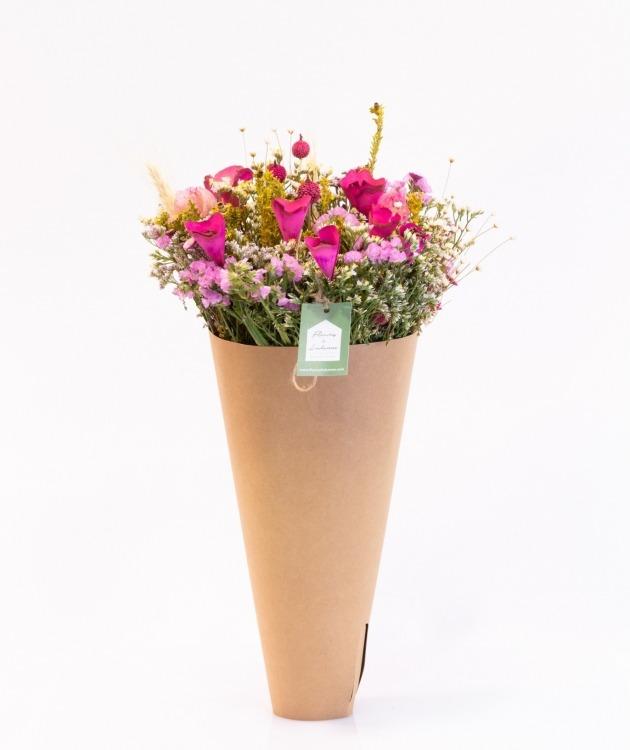 Fleurs à Lisbonne - Arranjo de Flores Secas Cor de Rosa 1