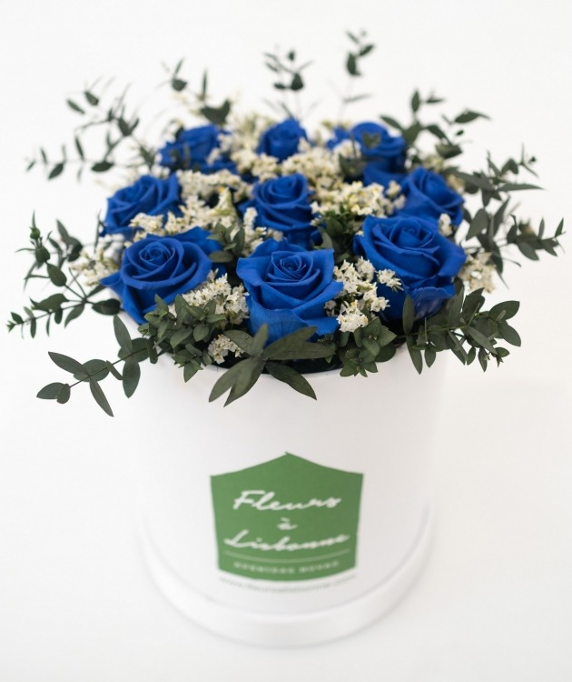Fleurs à Lisbonne - Caixa de Flores Desidratadas Azul 2