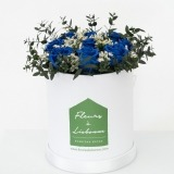 Fleurs à Lisbonne - Caixa de Flores Desidratadas Azul 1 Thumb