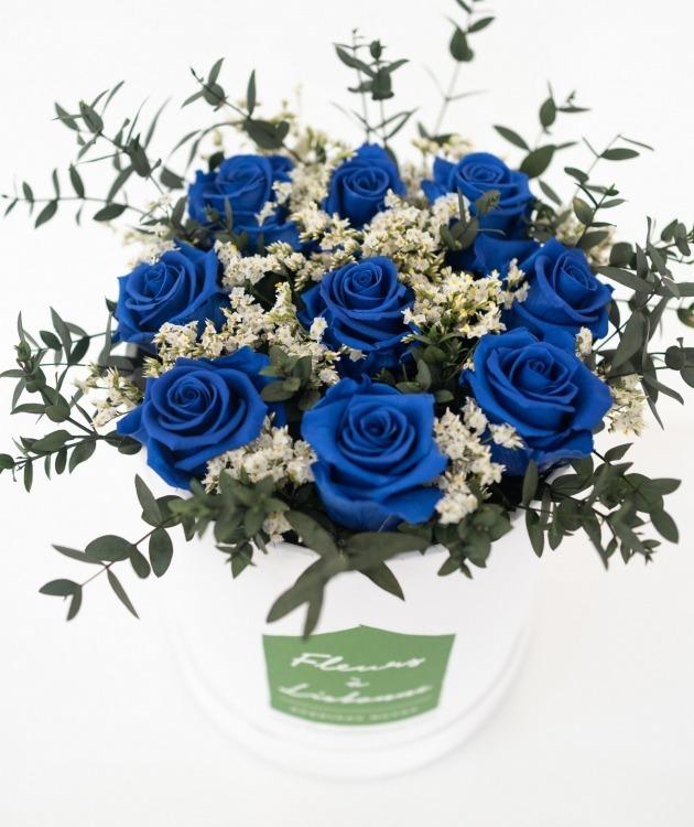 Fleurs à Lisbonne - Caixa de Flores Desidratadas Azul 3