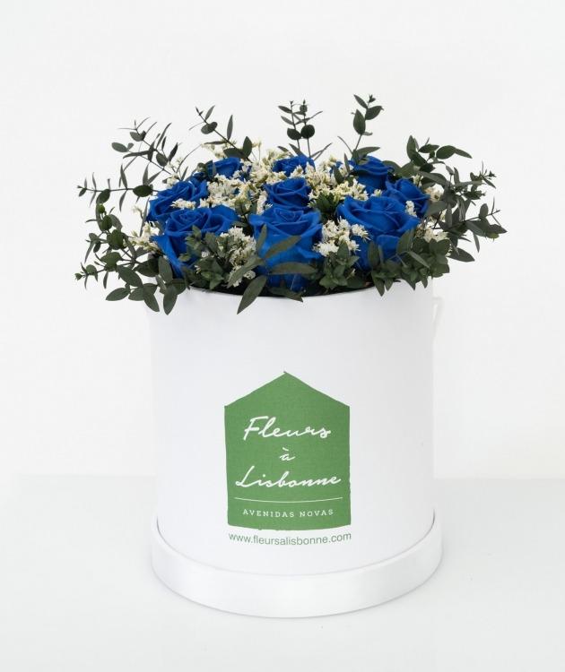 Fleurs à Lisbonne - Caixa de Flores Desidratadas Azul 1