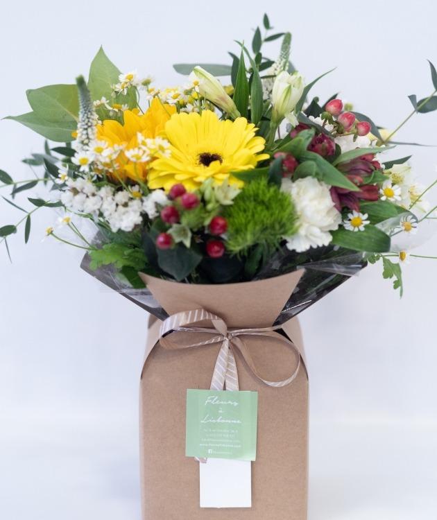 Fleurs à Lisbonne - Caixa de Flores Campestres Amarelas 2
