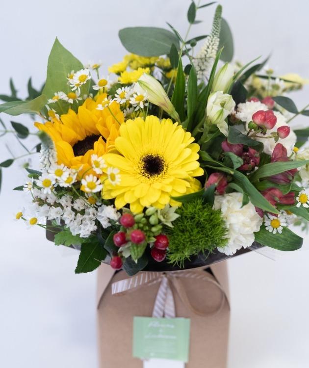 Fleurs à Lisbonne - Caixa de Flores Campestres Amarelas 3