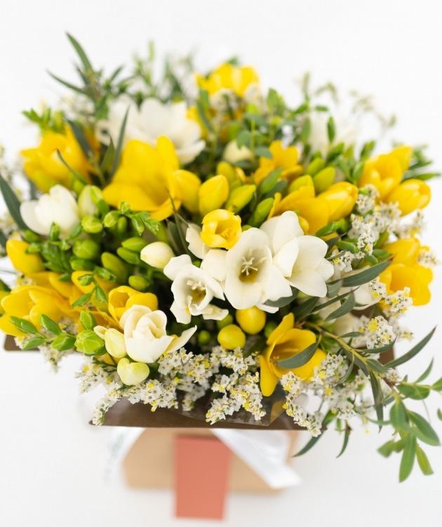 Fleurs à Lisbonne - Caixa de Frésias Mix 2