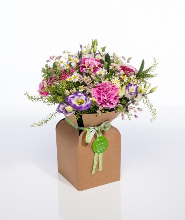 Fleurs à Lisbonne - Caixa de Flores Campestres Cor de Rosa 1