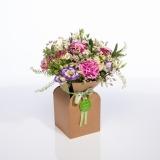 Fleurs à Lisbonne - Caixa de Flores Campestres Cor de Rosa 1 Thumb