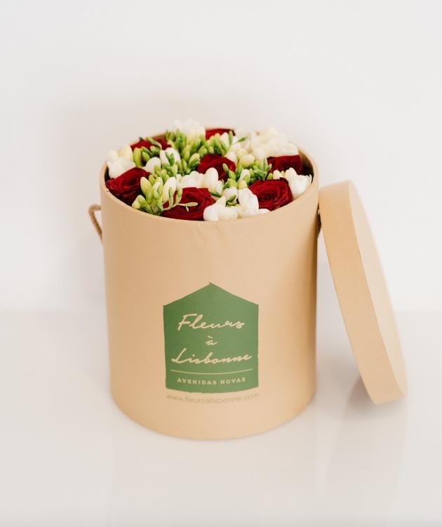 Fleurs à Lisbonne - Caixa de Rosas Vermelhas Grande 1